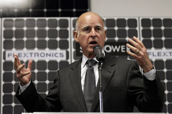 governor brown solar power