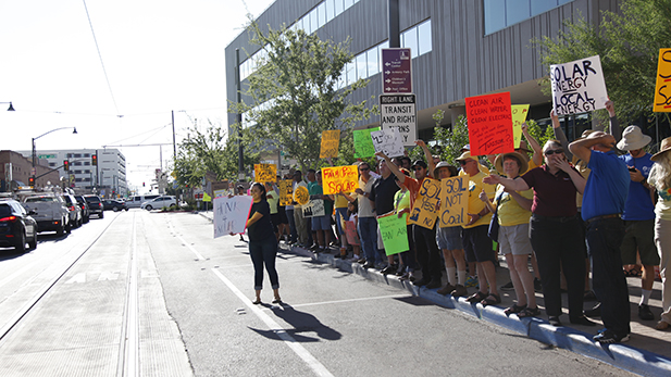 protest for net metering